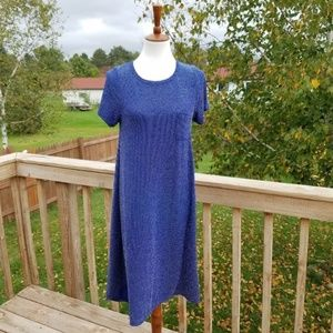 Lularoe Blue Metallic Carly Dress